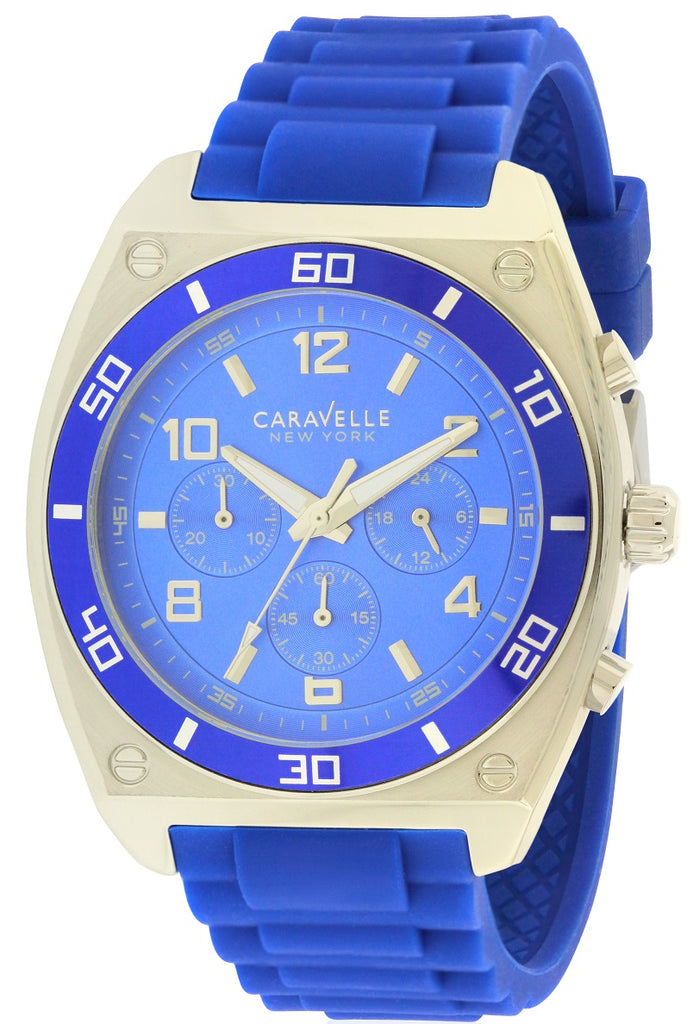 Caravelle New York Silicone Chronograph Mens Watch