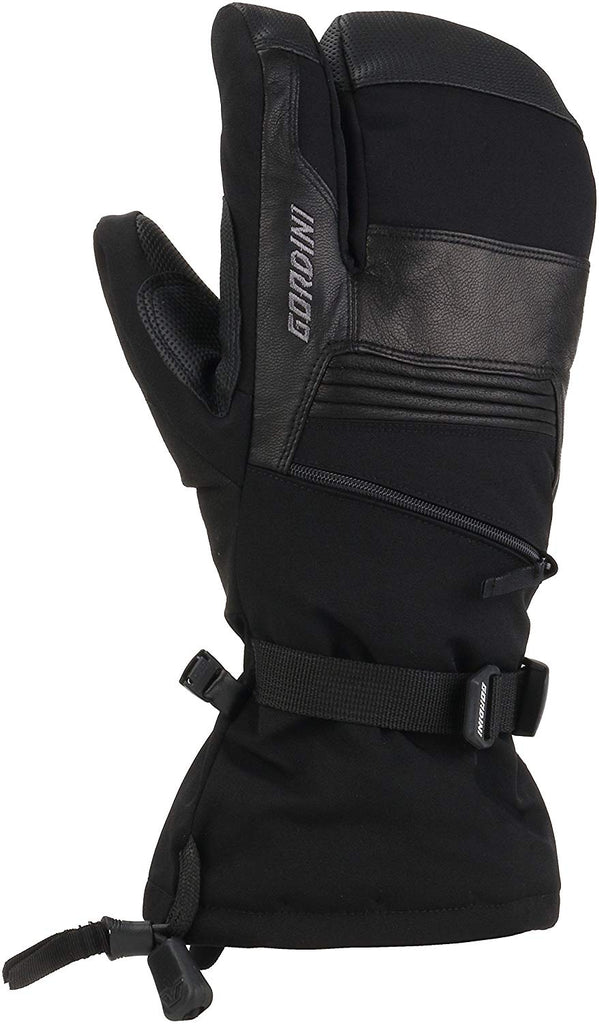 Gordini Mens Gore-tex Storm Trooper Three Finger Waterproof Mittens Gloves - Black - Medium