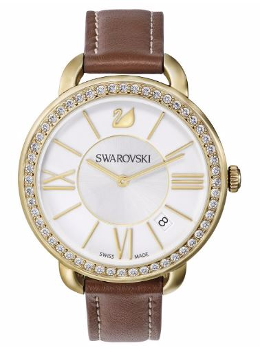 Swarovski Aila Day Brown Yellow Gold-Tone Ladies Watch