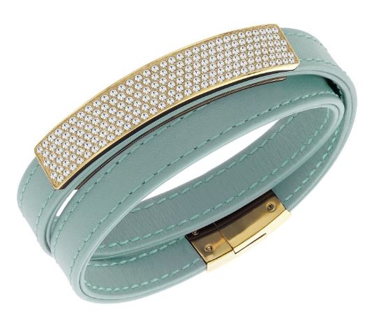 Swarovski Vio Cielo Leather Bracelet -