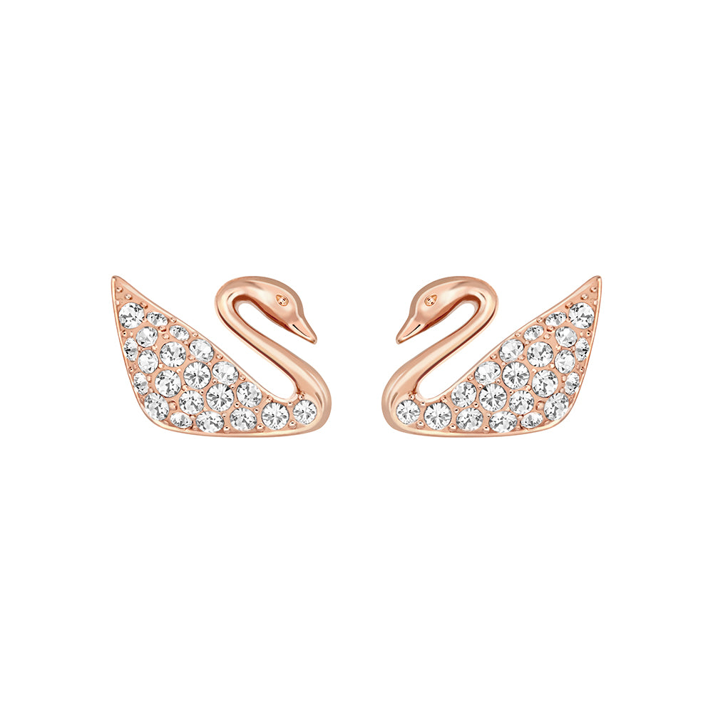 Swarovski Swan Mini Pierced Earrings -