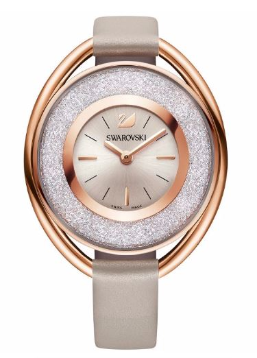 Swarovski Crystalline Oval Rose Gold-Tone Ladies Watch