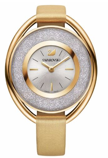 Swarovski Crystalline Oval Gold-Tone Ladies Watch