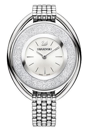 Swarovski Crystalline Oval White Bracelet Ladies Watch