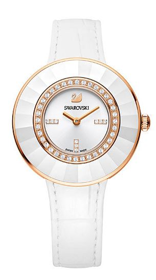 Swarovski Octea Dressy White Rose Gold Tone Watch -
