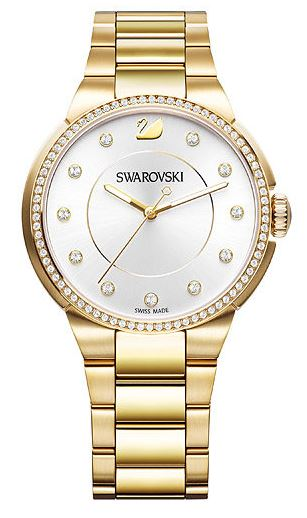 Swarovski City Yellow Gold Tone Bracelet Ladies Watch
