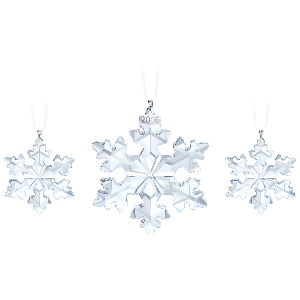 Swarovski Crystal Living Christmas Snowflake Trio Set 2016