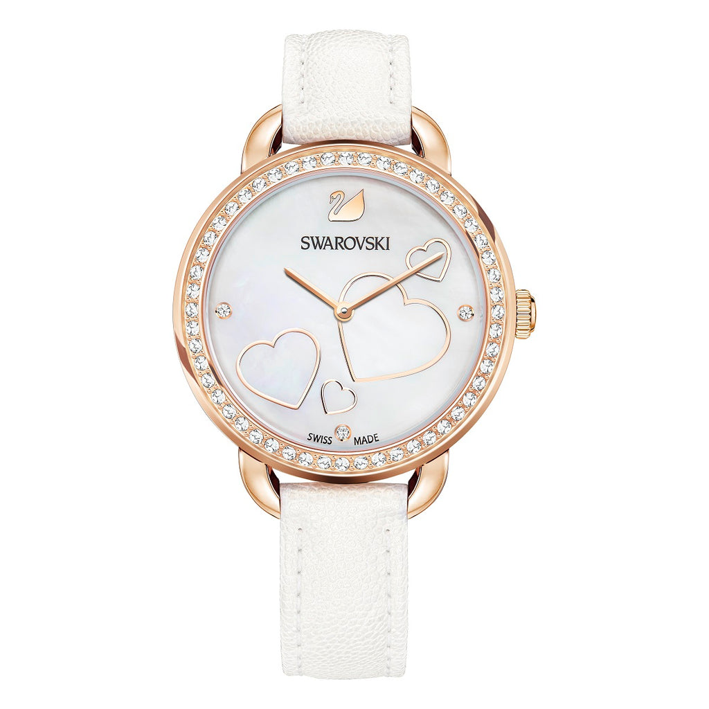 Swarovski Aila Day Heart White Ladies Watch