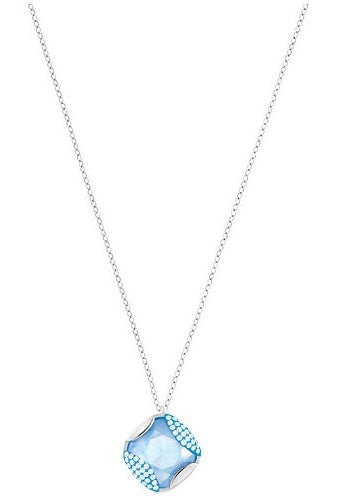 Swarovski Heap Pendant - Blue - Rhodium Plating -