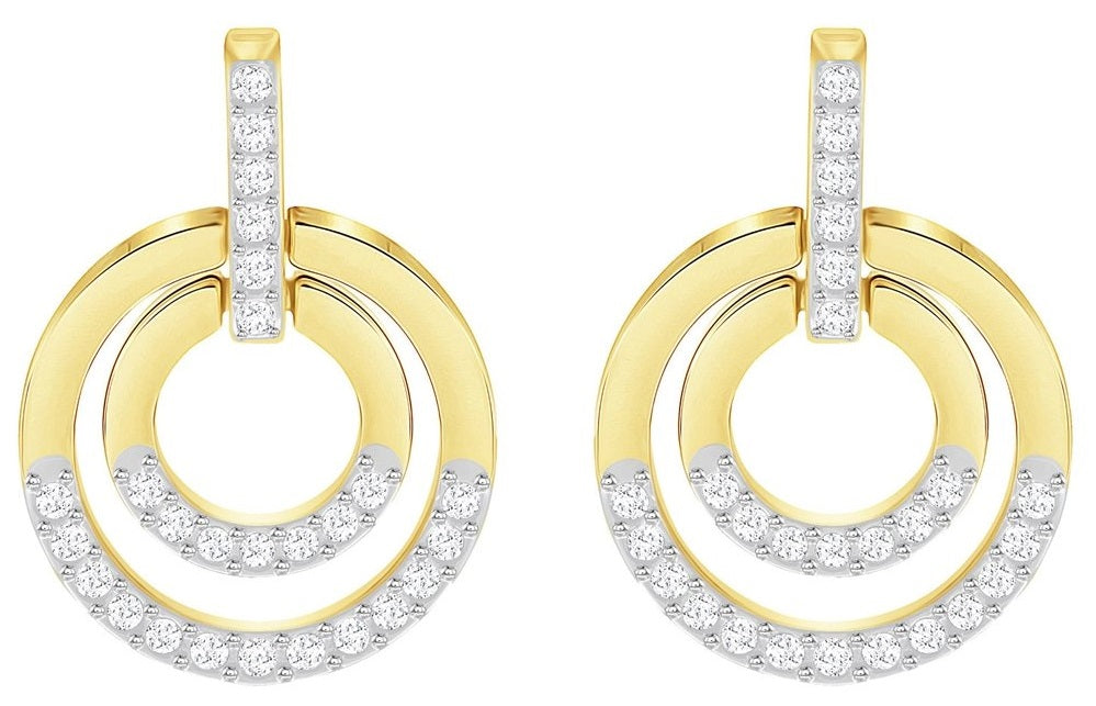 Swarovski Circle Pierced Earrings - Medium -