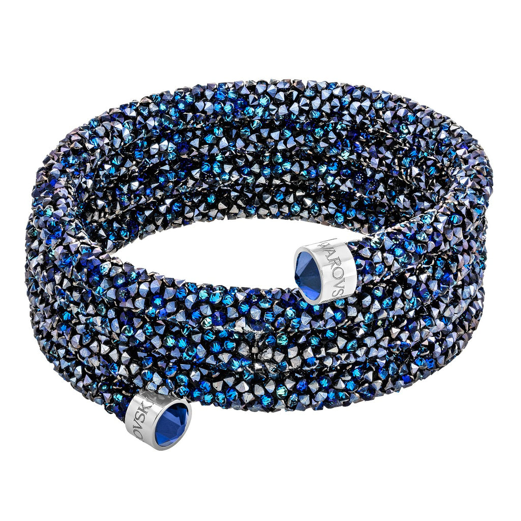 Swarovski Crystaldust Wide Bangle - Blue -