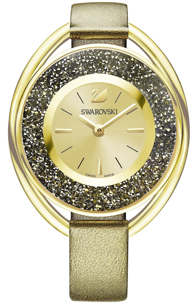 Swarovski Crystalline Oval Ladies Watch - Golden -