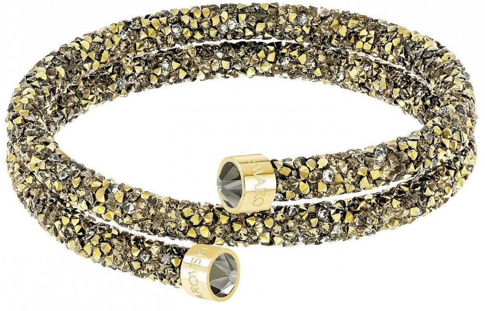 Swarovski Crystaldust Double Bangle - Multi-colored - Gold Plating -