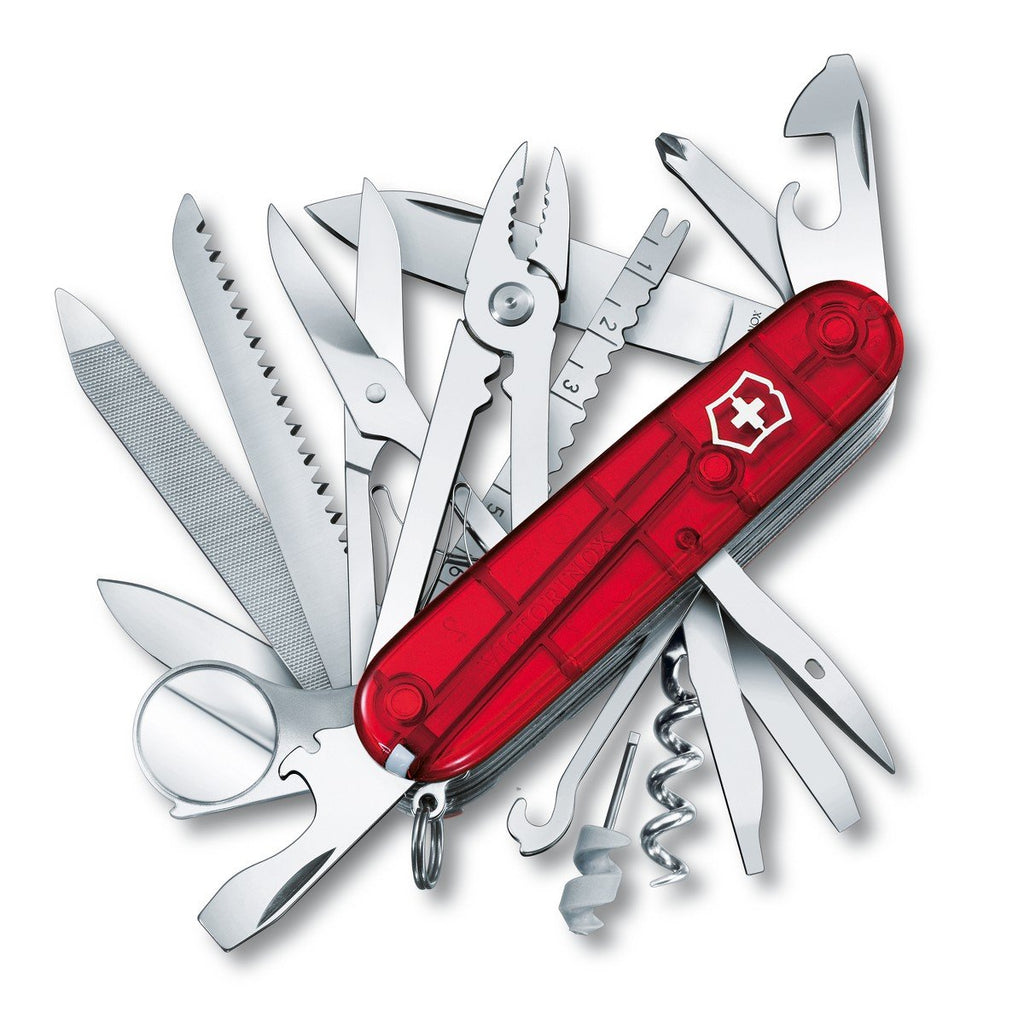 Swiss Army Victorinox Multi-Tool - SwissChamp Pocket Knife - Ruby