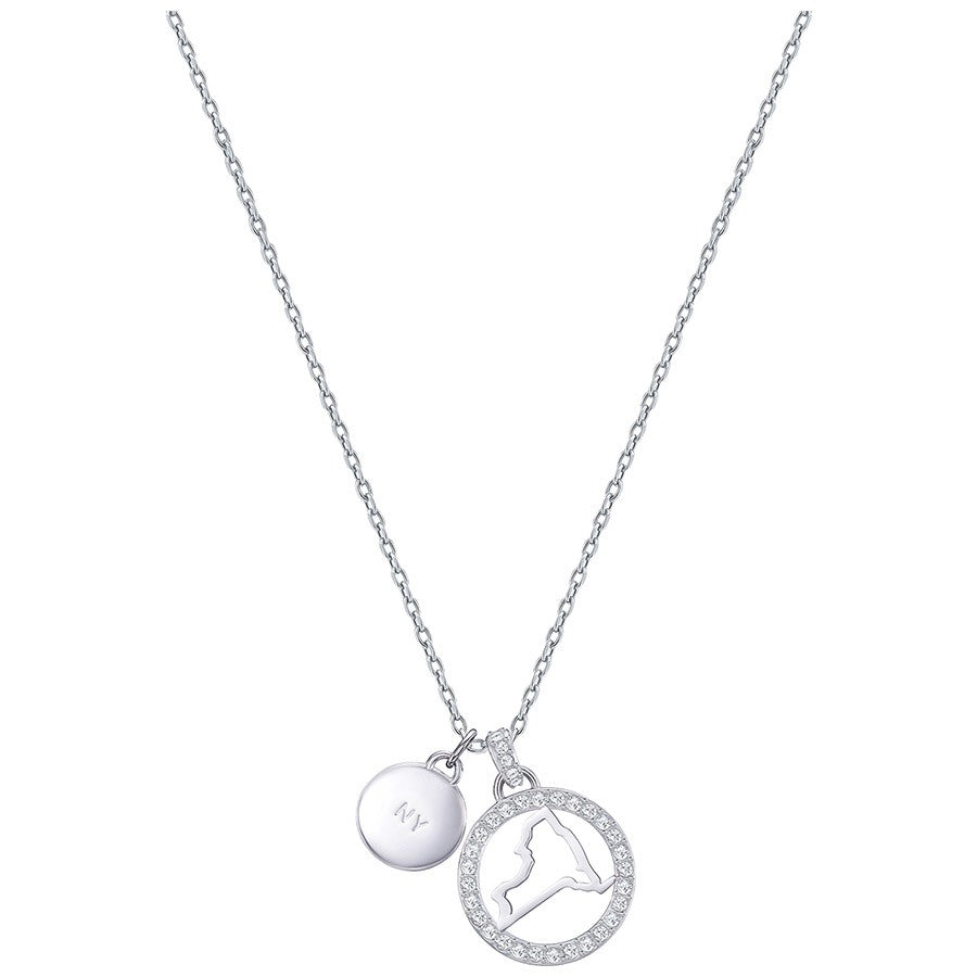 Swarovski Lena New York Pendant - White - Rhodium Plating -