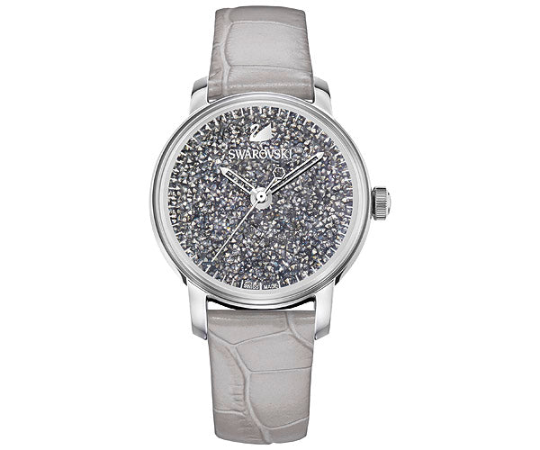 Swarovski Crystalline Hours Leather Ladies Watch
