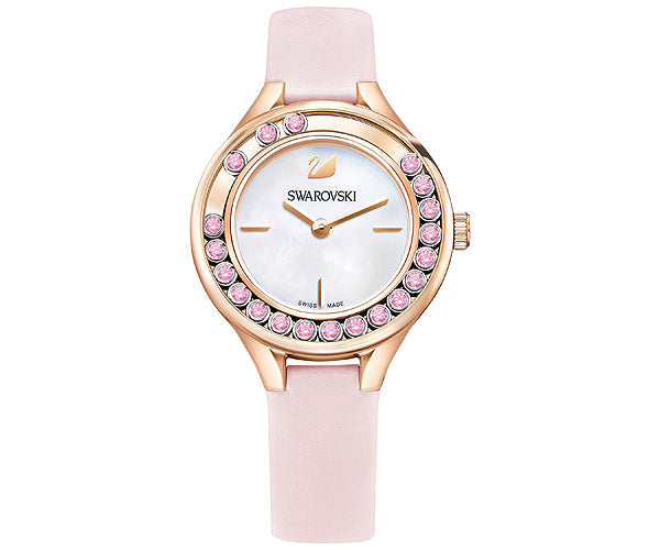 Swarovski Lovely Crystals Mini Leather Ladies Watch