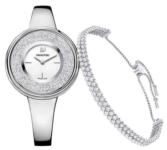 Swarovski Crystalline Pure Set - Bracelet And Ladies Watch