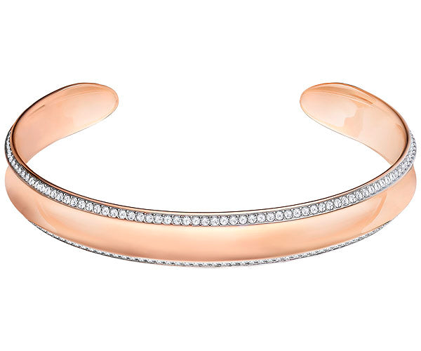 Swarovski Lakeside Cuff - White - Rose Gold Plating -