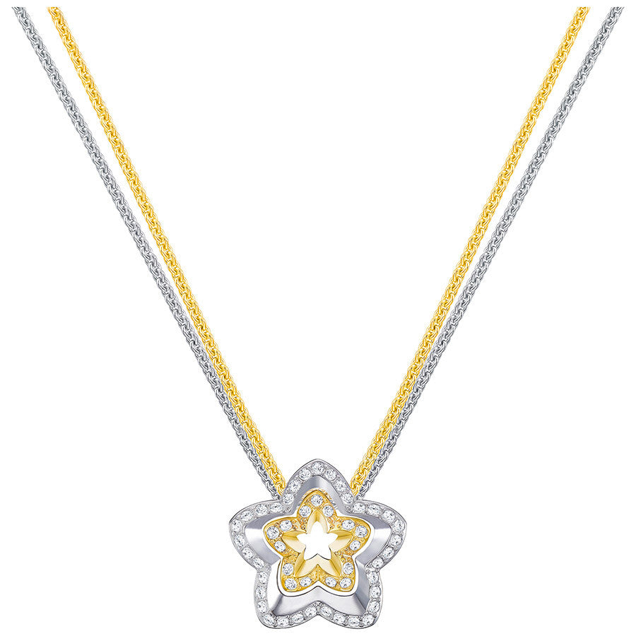 Swarovski Lovesome Flower Pendant - White - Mixed Plating -