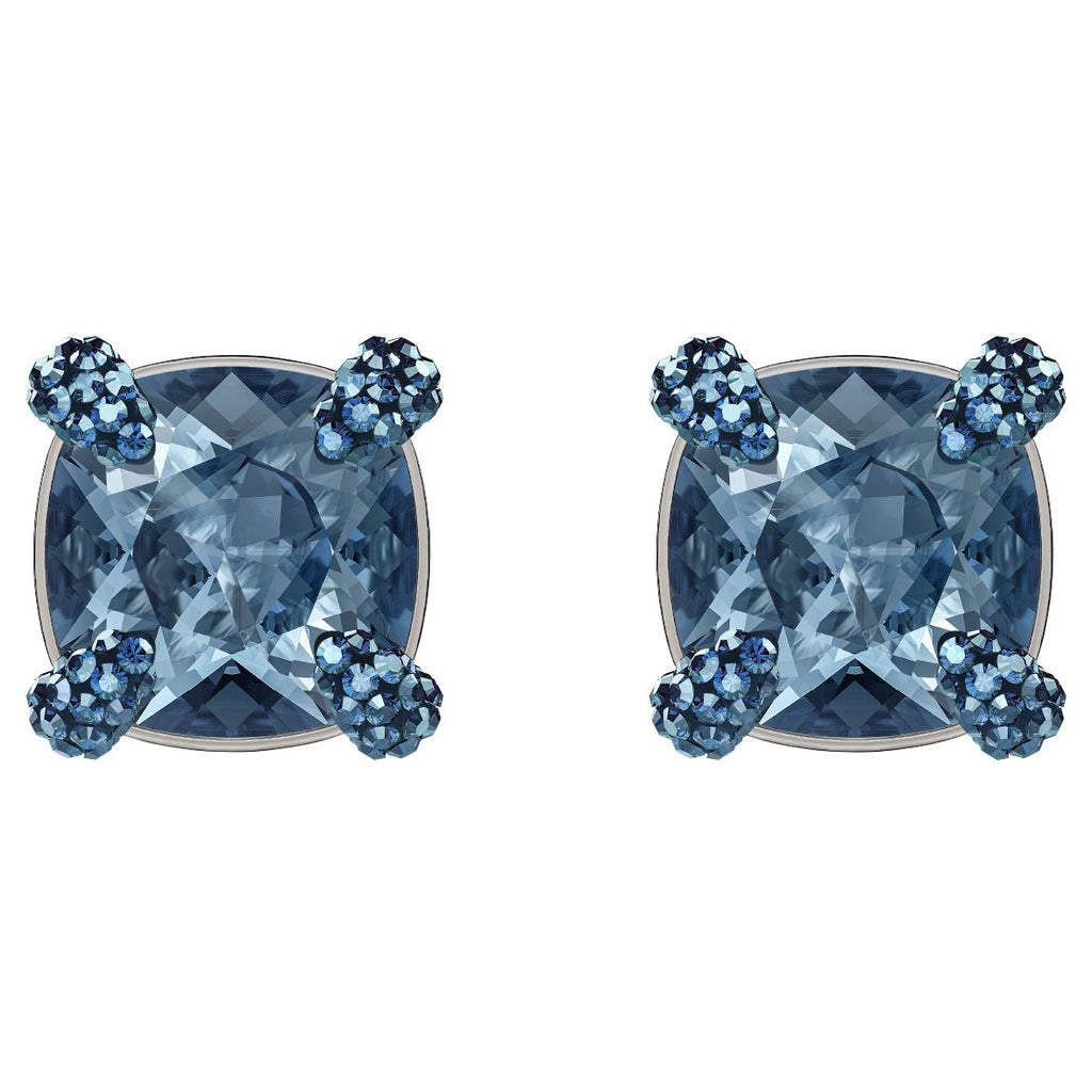 Swarovski Make up Pierced Earrings - Blue