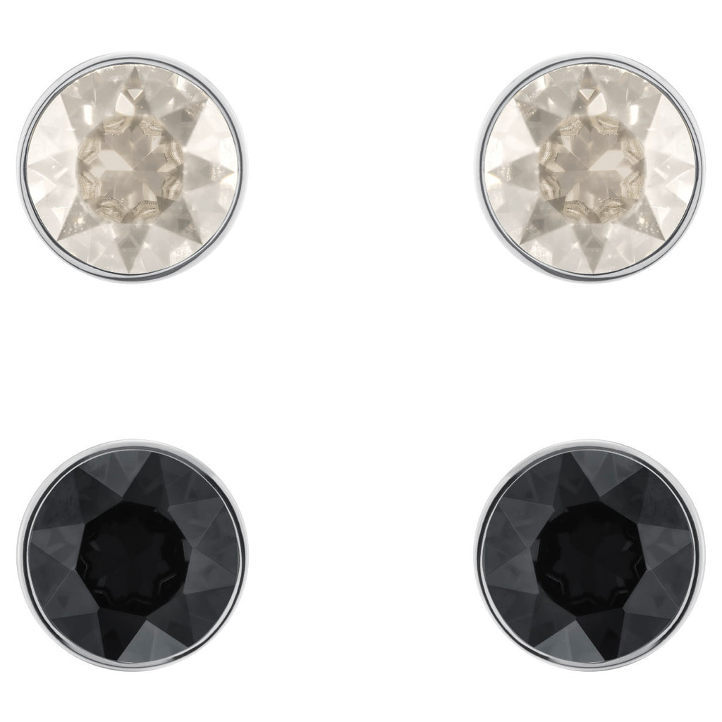Swarovski Madyson Rhodium-Plated Stud Earrings -