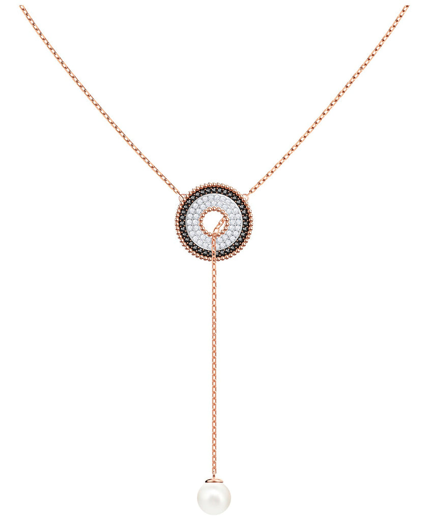 Swarovski Lollypop Rose Gold Plated Lariat Necklace -