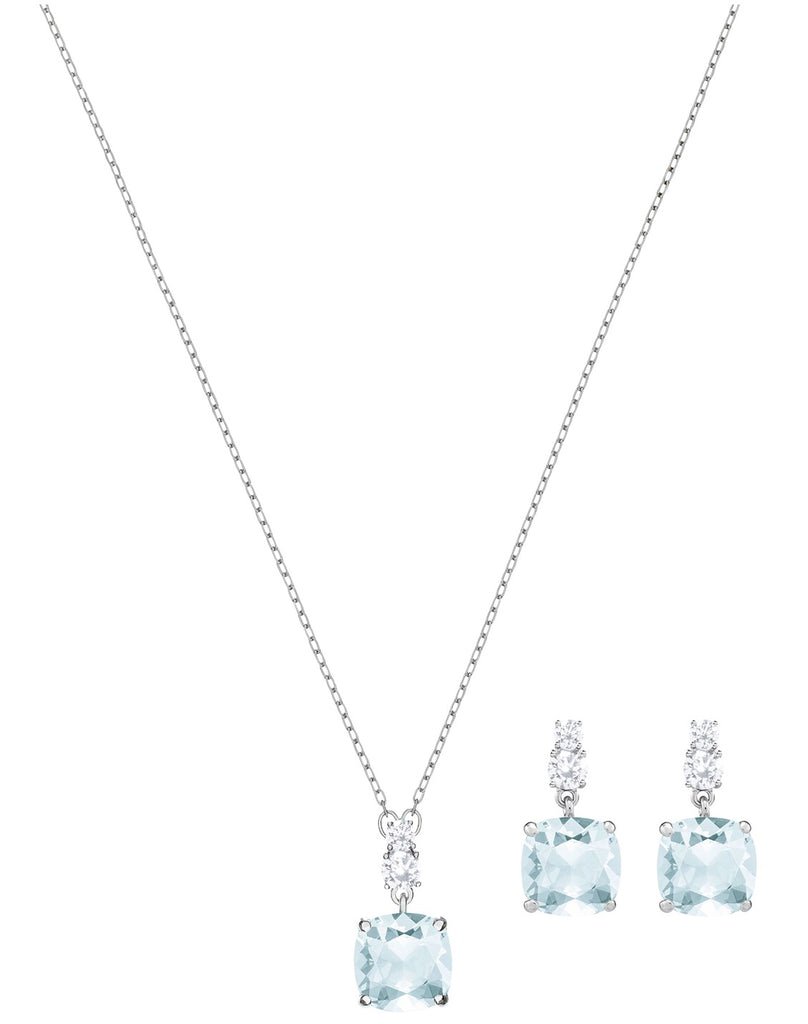 Swarovski Vintage Set - Blue - Rhodium Plating -