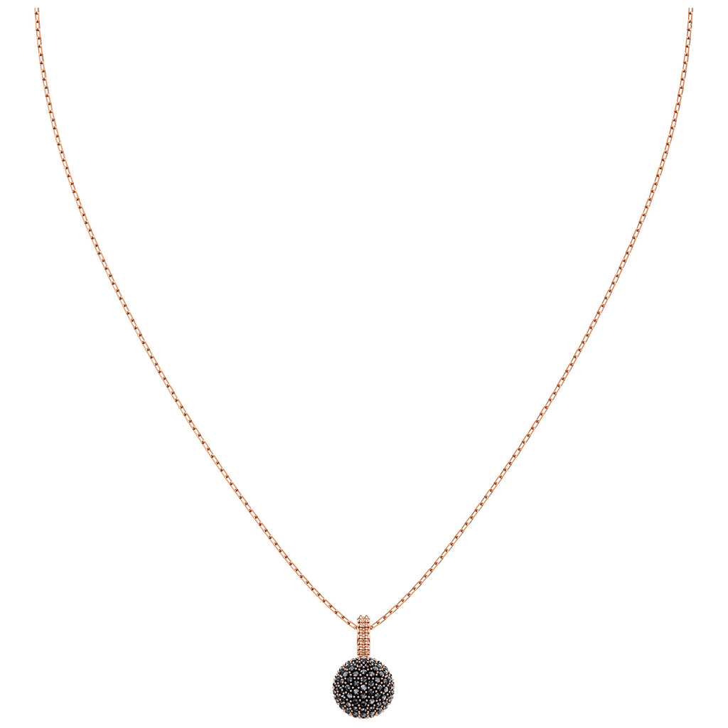 Swarovski Lollypop Rose Gold Plated Black Small Pendant -