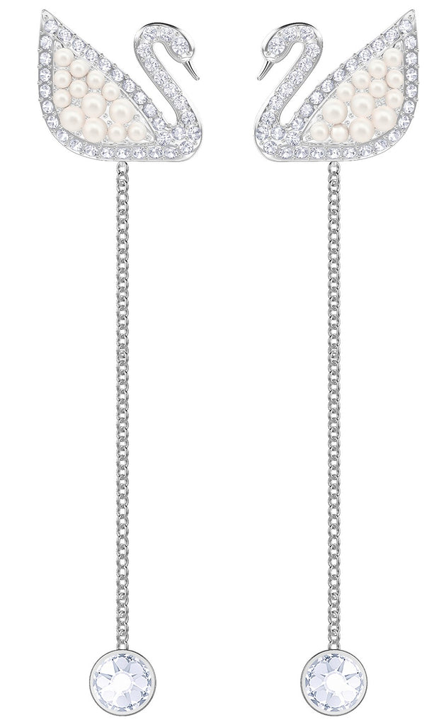 Swarovski Iconic Swan Pe Drop Earrings -