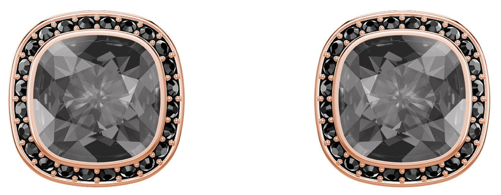 Swarovski Lattitude Rose Gold-Plated Stud Earrings -