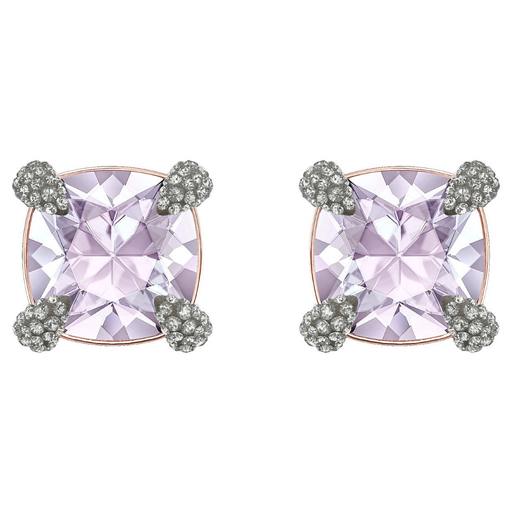 Swarovski Make up Pierced Earrings - Violet