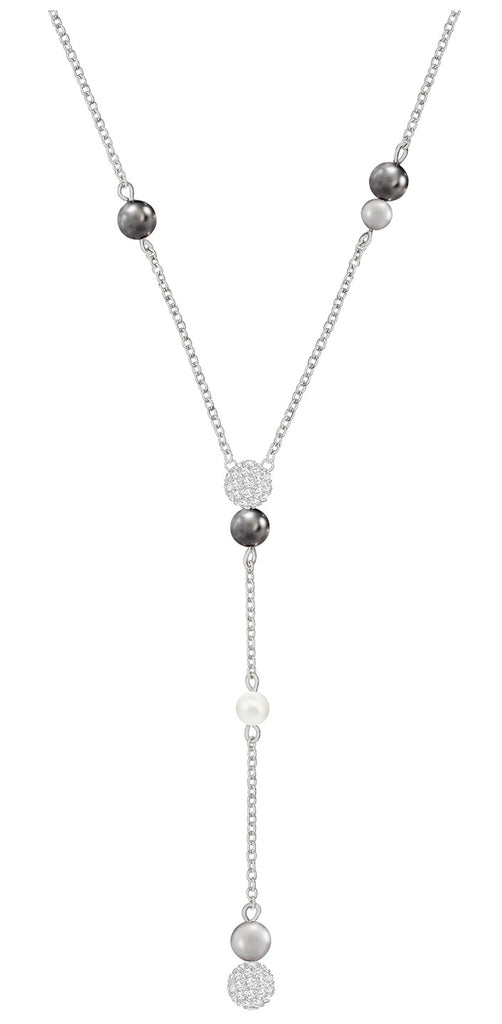 Swarovski Canopy Y Necklace - Multi-coloured - Rhodium Plating -