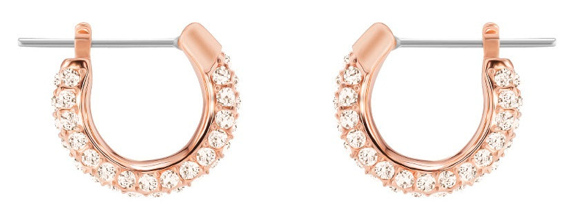 Swarovski Stone Pierced Hoop Earrings -