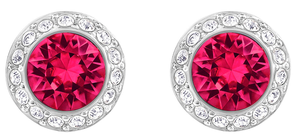Swarovski Angelic Pierced Earrings - Red - Rhodium plating