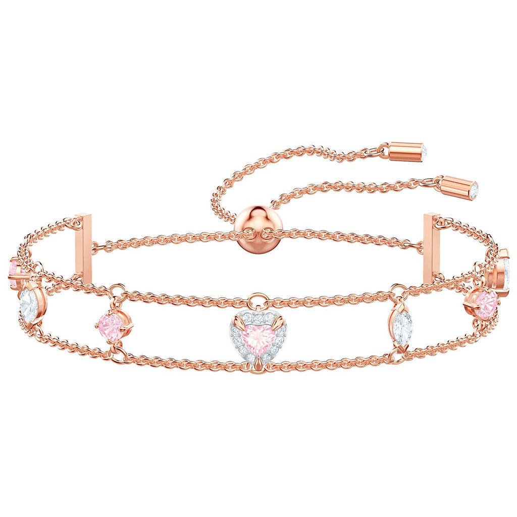Swarovski One Bracelet - Multi-colored - Rose Gold Plating