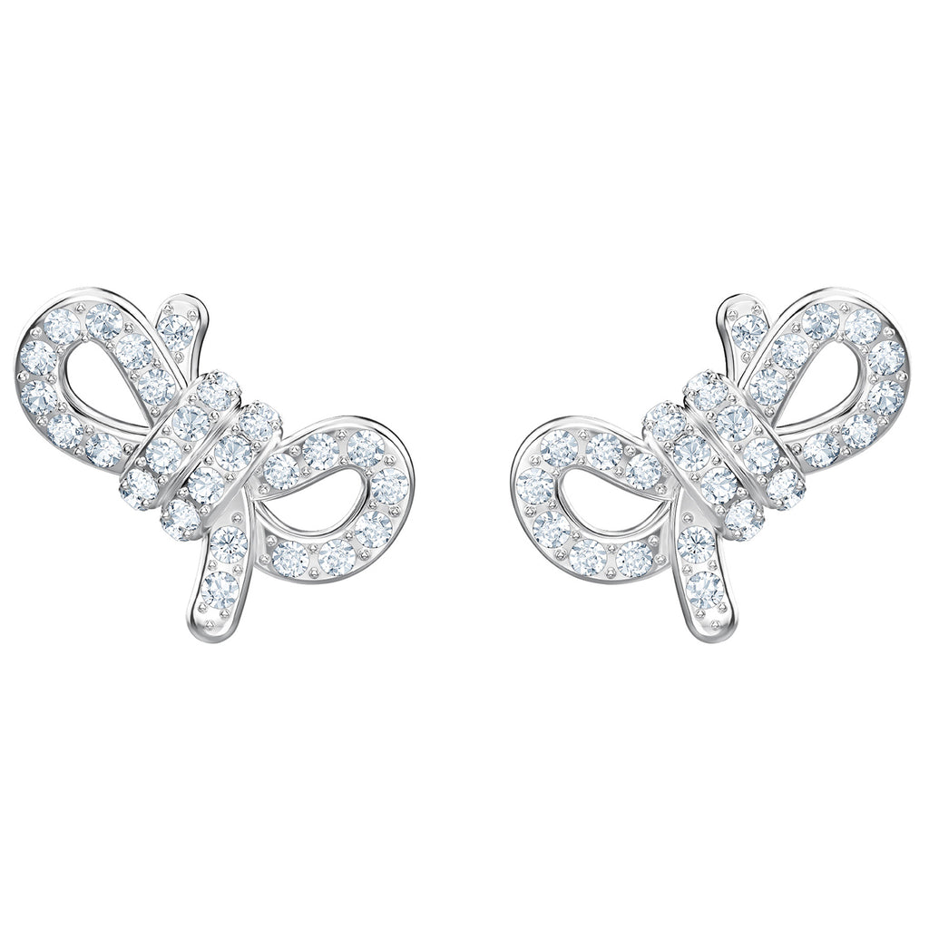Swarovski Lifelong Bow Pierced Earrings