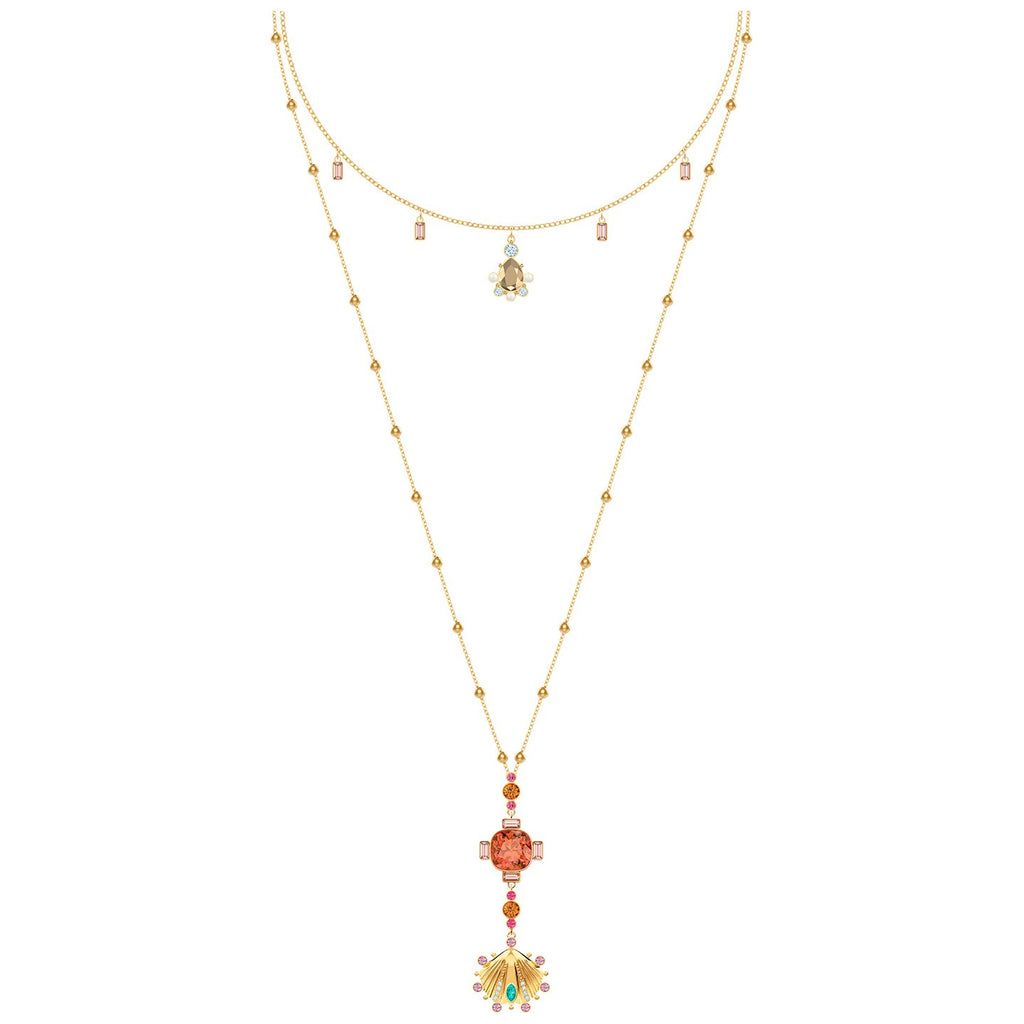 Swarovski Lucky Goddess Necklace - Multi-coloured - Gold Plating
