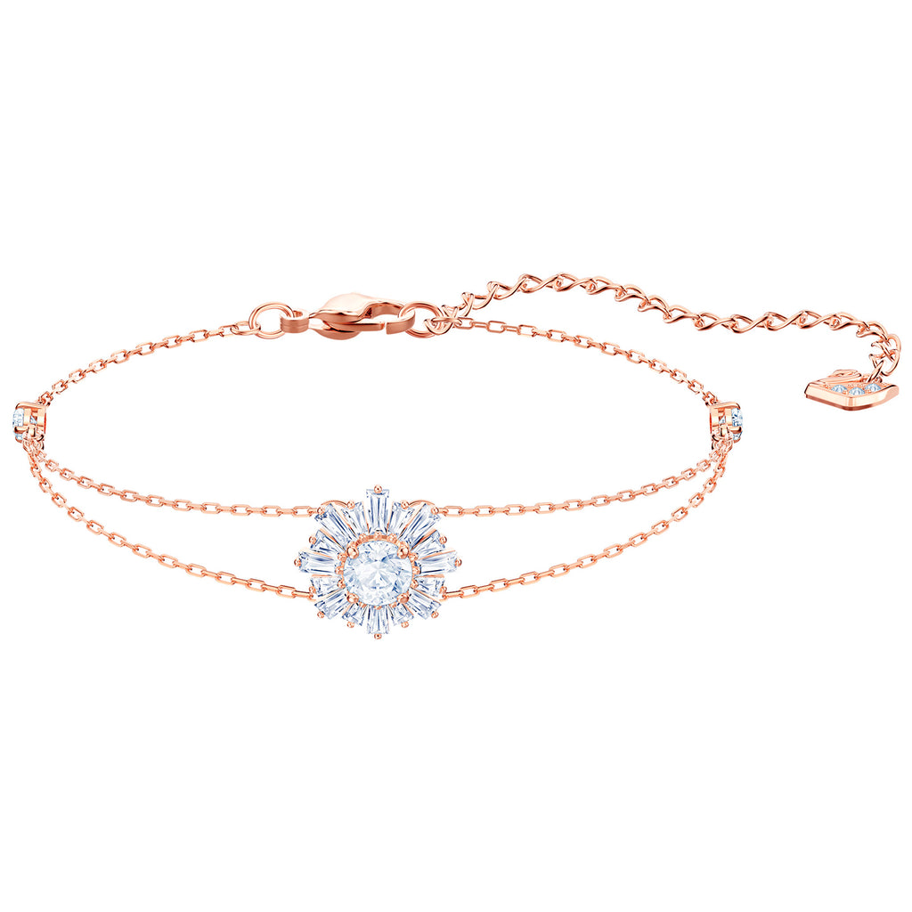 Swarovski Sunshine Bracelet - White - Rose Gold Plating