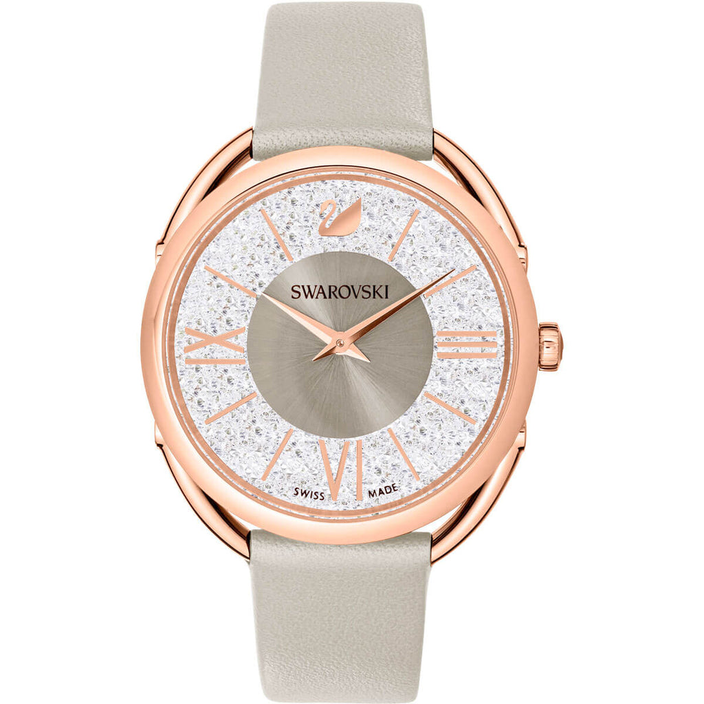 Swarovski Crystalline Glam Leather Watch