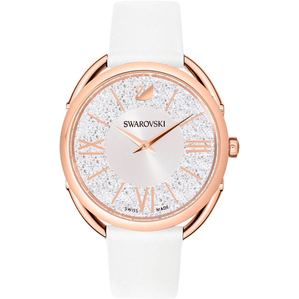 Swarovski Crystalline Leather Glam Watch