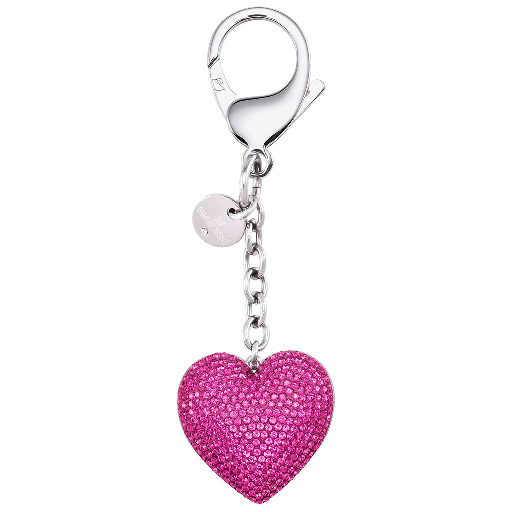 Swarovski Lovely Bag Charm - Fuchsia - Stainless Steel