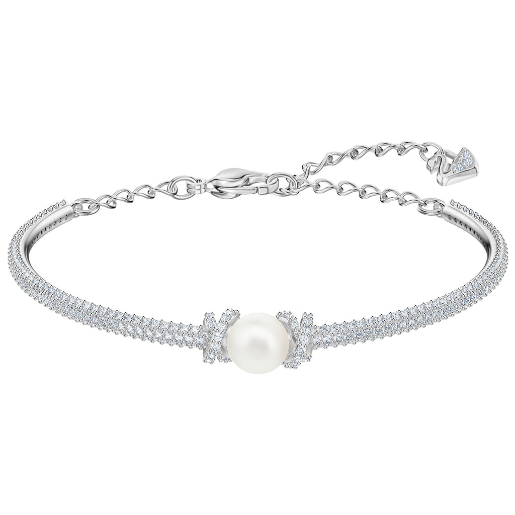 Swarovski Originally Bangle - White - Rhodium Plating