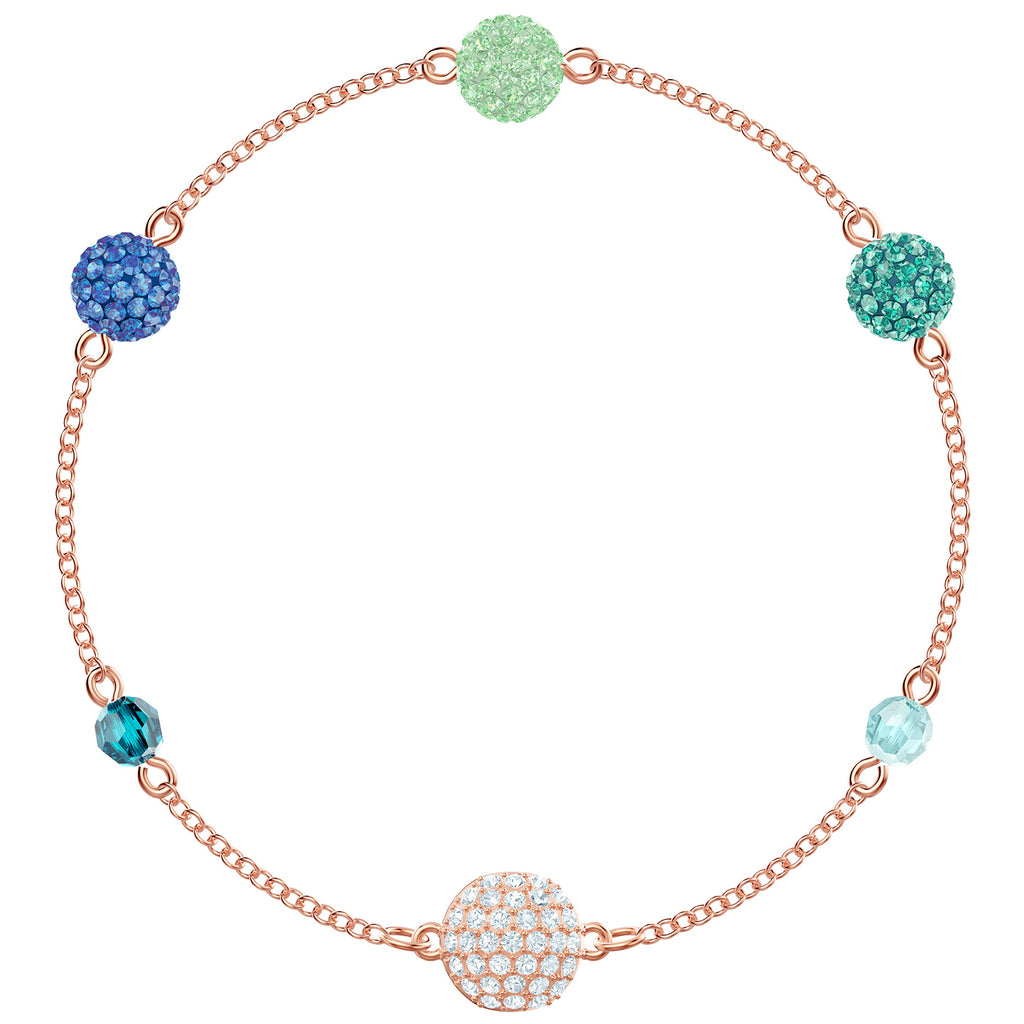 Swarovski Remix Collection Pop Strand - Green - Rose Gold Plating