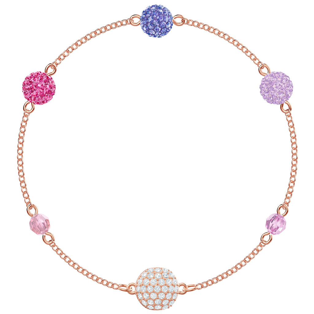 Swarovski Remix Collection Pop Strand - Purple - Rose Gold Plating