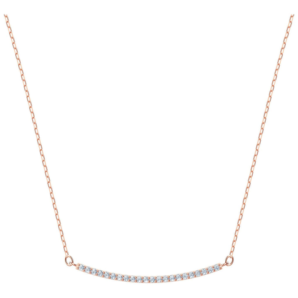 Swarovski Only Necklace - White - Rose Gold Plating