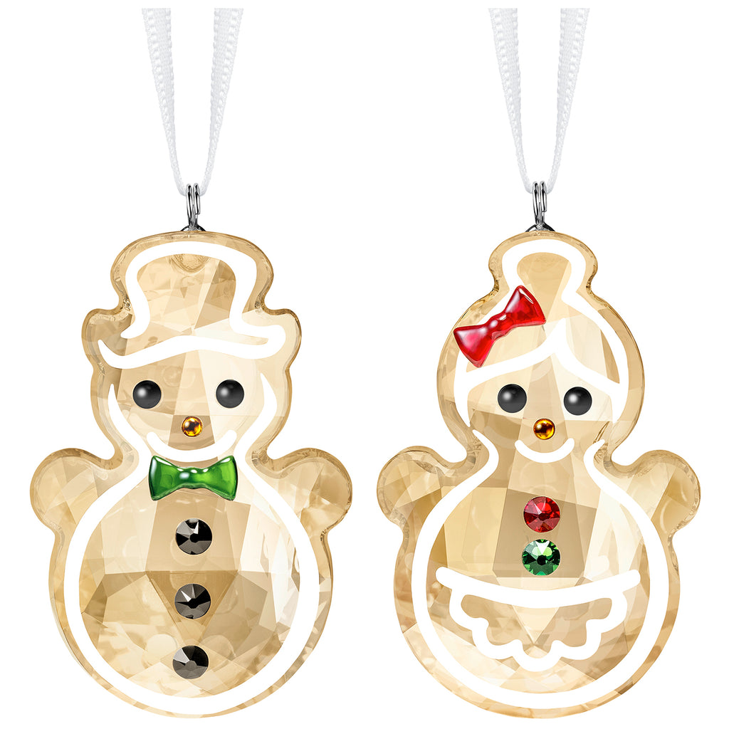 Swarovski Gingerbread Snowman Couple Ornament -