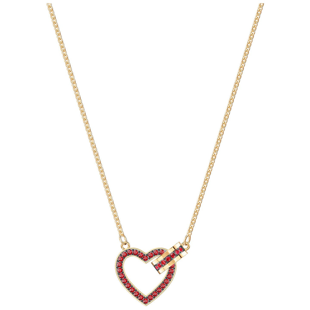 Swarovski Lovely Necklace - Red - Gold Plating