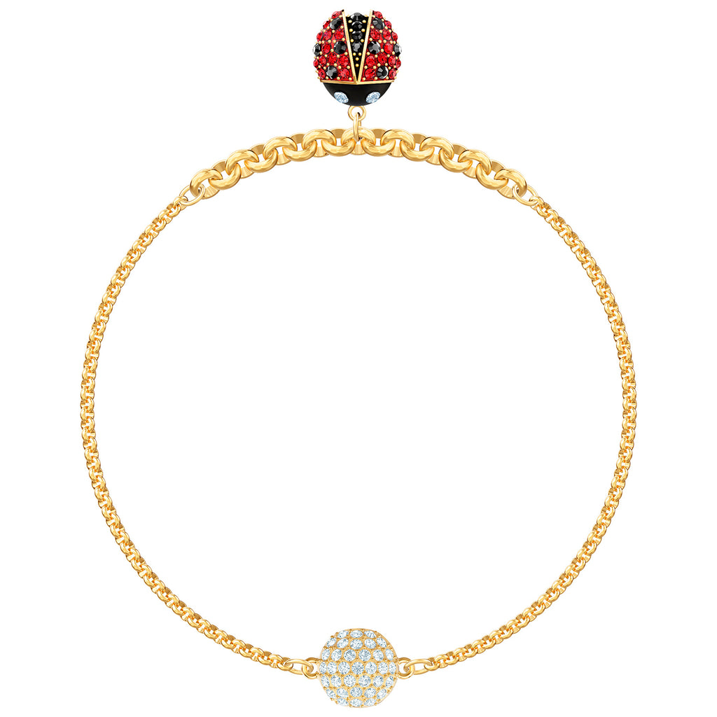 Swarovski Remix Collection Ladybug Strand - Multi-coloured - Gold Plating