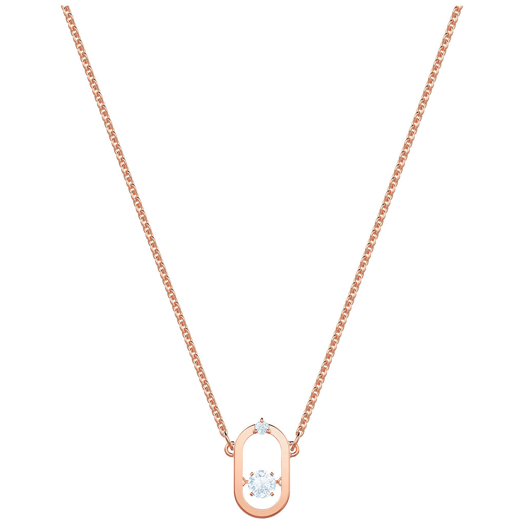 Swarovski North Necklace - White - Rose Gold Plating